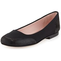 Taryn Rose Barrington Stretch Ballerina Flat (115 CAD) ❤ liked on Polyvore featuring shoes, flats, black, black shoes, ballerina pumps, arch support ballet flats, flexible ballet flats and ballet shoes