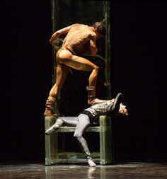 Fabrice Calmels and Matthew Adaczyk as Othello and Iago, photo by Cheryl Mann