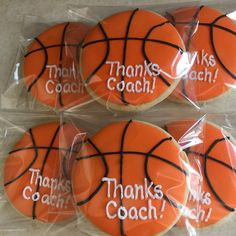 Thanks Basketball Coach Cookies by The Green Lane Baker