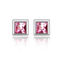 Chic Bridal Earrings in Alloy with Crystal in Rose Red for Various... (10 CAD) ❤ liked on Polyvore featuring jewelry, earrings, crystal bridal jewelry, crystal earrings, wedding jewelry, rose earrings and red wedding jewelry