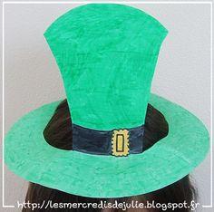 [St Patrick] Chapeau avec assiette en carton