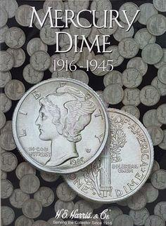Whitman Mercury Dime Collection Album 1916-1945