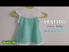 Daniele Silva shared a video Little Girl Dresses, Little Girls, Girls Dresses, Summer Dresses, Crochet For Kids, Crochet Baby, Knit Crochet, Knit Baby Dress, Knitting Videos
