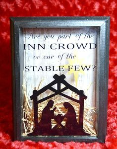 Christmas Shadow Box Manger Scene Are You part by WordArtTreasures