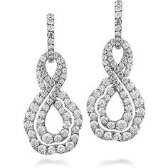 Lorelei Diamond Infinity Earrings (available in 18k White Gold) #LoreleiCollection #WeddingLooks | heartsonfire.com