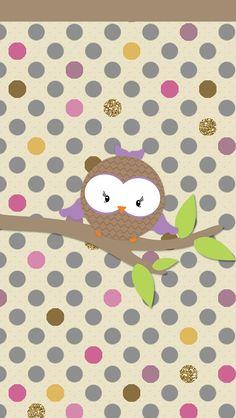 Cute Owls Wallpaper, Chevron Wallpaper, Wallpaper Backgrounds, Phone Backgrounds, Iphone Wallpapers, Owl Clip Art, Owl Art, Paper Owls, Cute Clipart