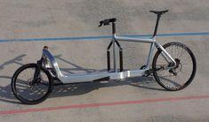 Custom machined aluminium, carbon-fibre frame and some trick components make the Bullitt a very light cargo bike