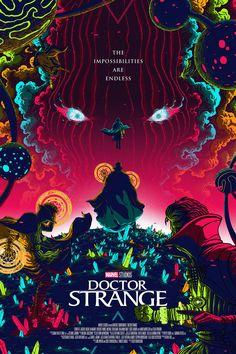Doctor Strange poster by Florey - Marvel Poster Marvel, Marvel Movie Posters, Movie Poster Art, Films Marvel, Marvel Art, Marvel Heroes, Marvel Avengers, Crazy Movie, Doctor Strange Poster
