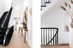 Calderone Townhouse — ERA Elizabeth Roberts, Black Stairs, Greek Revival Home, Entryway Stairs, Interior Architecture, Interior Design, London House, Plaster Walls, High Fashion Home