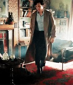 The Sherlock strut. It will never not amuse me that Benedict is such a dork, but Sherlock is sexy and confident.