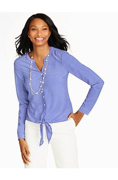 Refined Stripes Blouse - Talbots