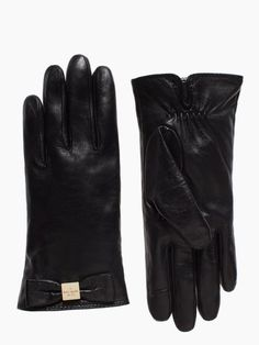 leather gloves bow gloves - kate spade new york