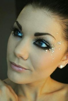 add a little bling to make a big statement! #cosmetology #makeup
