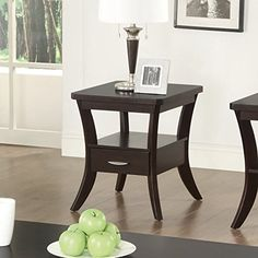 Coaster Home Furnishings 702508 End Table, Espresso