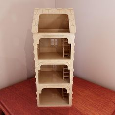 Modular dollhouse v2 with balcony. Pattern for CNC router and laser cutting (1:12 scale). Dolls 4-8 inch (12-20cm). Vector projects.
