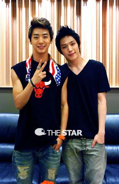 Bang Yong Guk and Kim Himchan  from B.A.P