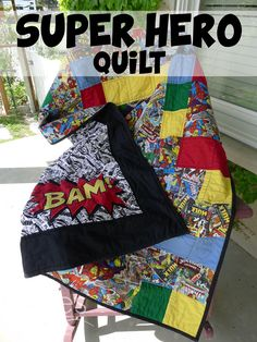 Pieces by Polly: Super Hero Quilt (with the Avengers and Superman)