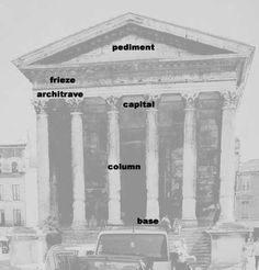 In architecture the frieze is the wide central section part of an entablature and may be plain in the Ionic or Doric order, or decorated with bas-reliefs. Description from pinterest.com. I searched for this on bing.com/images