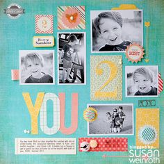 Susan Weinroth layout -- a great meeting of an embellished style and clean lines