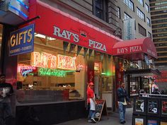 Famous Original Ray's--our favorite, and the late night go to place for pizza!