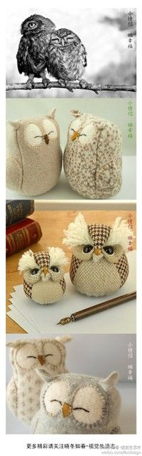 Hoot hoot--diy owls