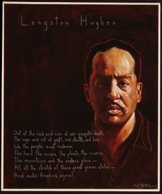 Langston Hughes Portrait by Robert Shetterly