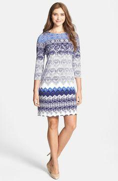 Donna Morgan Lace Print Shift Dress available at #Nordstrom