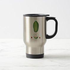 Vintage Baobab Fruit Botanical Print Travel Mug - vegan personalize diy customize unique