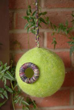 How to Wet Felt a Bird Pod in Merino Wool Fibers - A Photo Tutorial