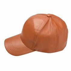 Men Women Soft Leather Baseball Cap Biker Trucker Adjustable Outdoor Sports Hats - Newchic Mobile Leather Baseball Cap, Baseball Hats, Black Snapback Hats, Hats Online, St Kitts And Nevis, Soft Leather, Biker, Sports Hats, Women