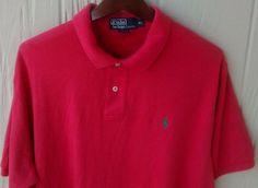 NWOT Men's Ralph Lauren Polo short sleeve red shirt size L large #PoloRalphLauren #Polo