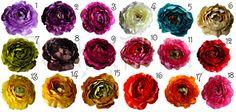 5 PCS Large Ruffle Ranunculus Rose flowers - 4 inches- $9 + shipping