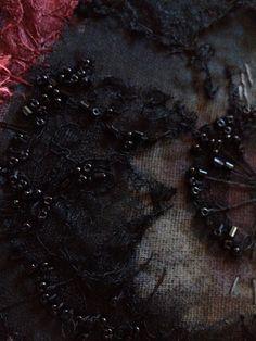 Beading detail- Laura Edgar #textile art#hand embroidery