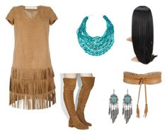 """""""Pocahontas Costume"""" by oliviaf14 ❤ liked on Polyvore featuring Drome, Office, NAKAMOL and BCBGMAXAZRIA"""