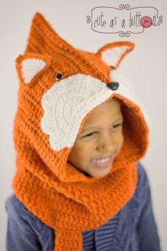 Anleitung für Häkelmütze als süßer Fuchs für Fasching / DIY crocheting instruction as cute fox by JenCuteAsAbutton via DaWanda.com