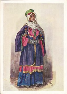 Postcard – Max Tilke – People of the Caucasus Series, 32 - A Jewish Woman from Kuba (Azerbaijan) | Flickr - From the Collection of Bonnie Naifeh and David Smith