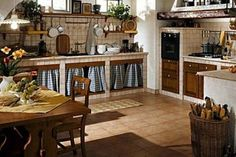 Cuisine traditionnelle en bois peint (style campagnard) - DORALICE ...