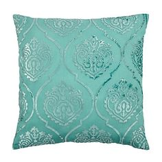 """26"""" Andora Aquamarine Pillow - Adds an elegant feel as well as contrast to the bedding & headboard. (Qty: 1 - $89.95)"""