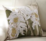 White Orchid Embroidered Pillow Cover  $59.50 special $49.50