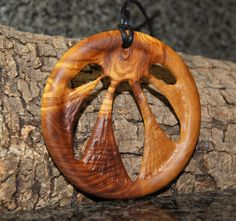Olive Wood Necklace sun by OliveWoodJewellery on Etsy