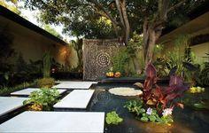 patio with koi pond - Google Search