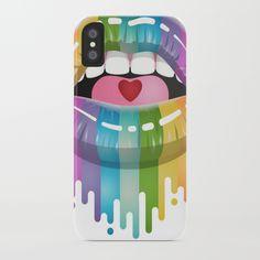 Rainbow Lips iPhone Case by ErinsDigitalArt   Society6