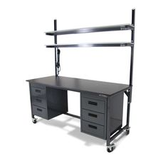 Welder Workbench With Drawers #industrialfurniture #industrial #desks #industrialworkbench #workbenchwithstorage