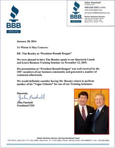 A Thank You Letter From One Of The Donald Double Tm Clients