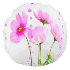 Gorgeous Floral Round Throw Pillow