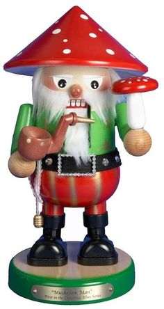 Kurt Adler 12 1/2-in. Steinbach Mushroom Man Christmas Nutcracker. Christmas Ornaments. I'm an affiliate marketer. When you click on a link or buy from the retailer, I earn a commission.