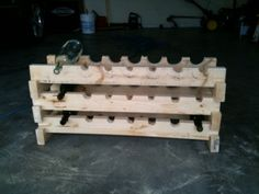 My homemade wine rack