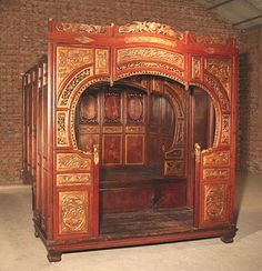 Gansu Large Late 19th Century Southern Chinese Opium Bed - looks like a small condo