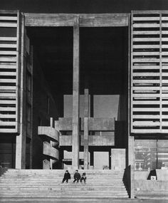poetryconcrete: Town Hall & Cultural Center, 1965, in Koto district, Tokyo, Japan.