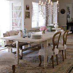 Tavolo allungabile in legno legno shabby chic laccato - Decapare un mobile scuro ...